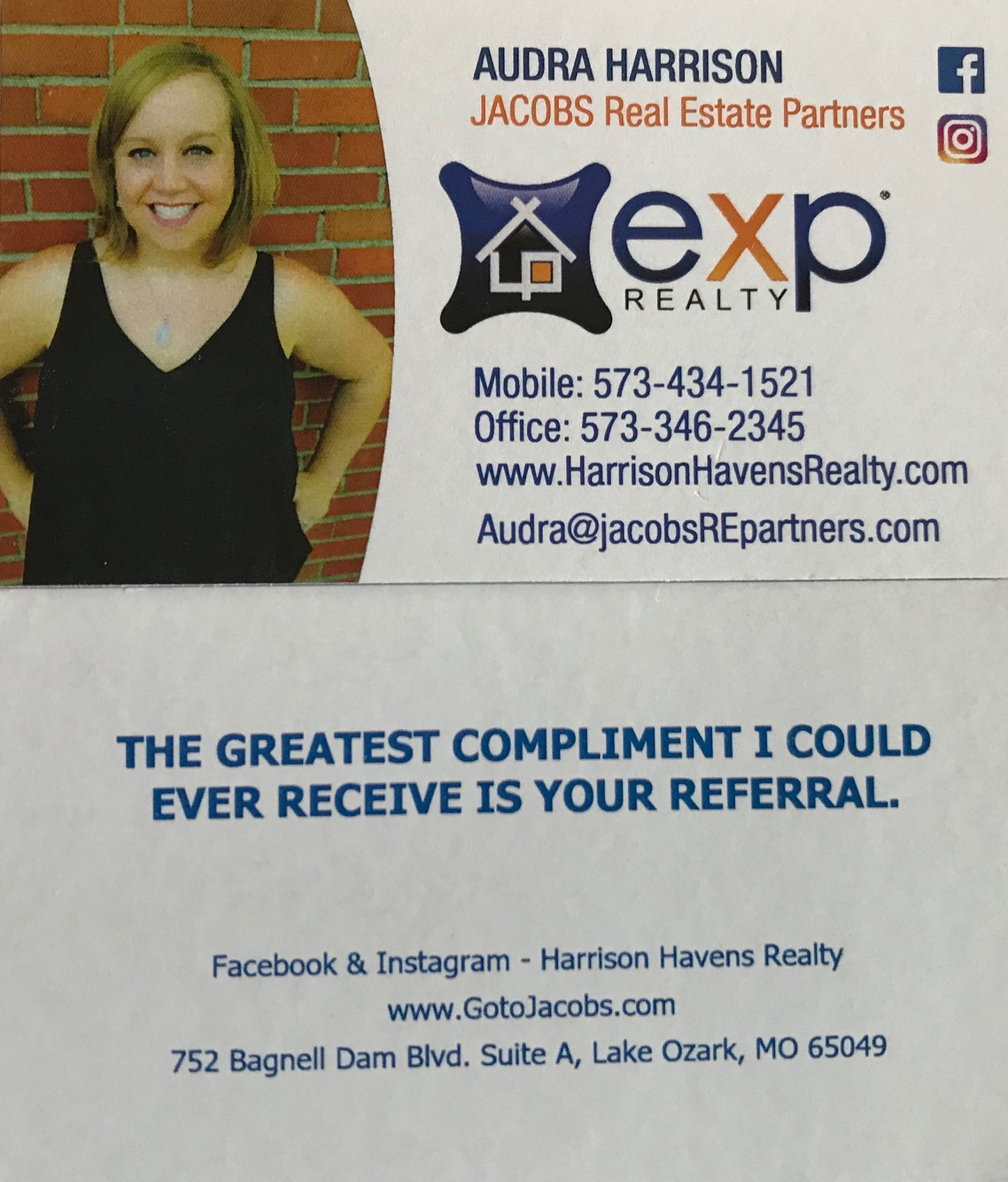 Audra Harrison, Realtor brokered by exp